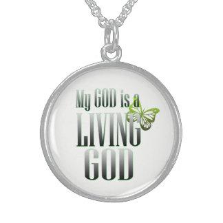 My God Sterling Silver Necklace