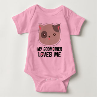 My Godmother Loves Me Kitty Cat Girls T-shirt