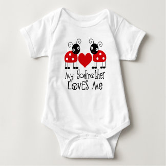 My Godmother Loves Me ladybug girls t-shirt