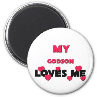 My Godson Loves Me 6 Cm Round Magnet