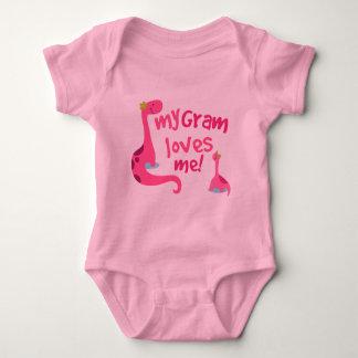 My Gram Loves Me Dinosaur Baby Bodysuit