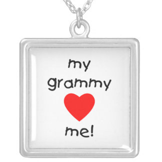 my grammy loves me silver plated necklace