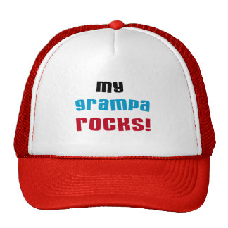 My Grampa Rocks T shirts and Gifts Cap