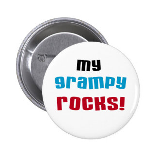 My Grampy Rocks T shirts and Gifts Button