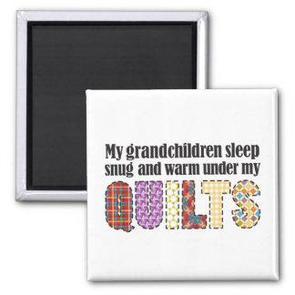 My grandchildren sleep snug under my quilts magnet