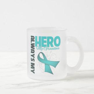 My Grandma Always My Hero - Ovarian Cancer Frosted Glass Mug