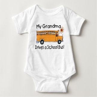 My Grandma Drives a Bus Baby Bodysuit