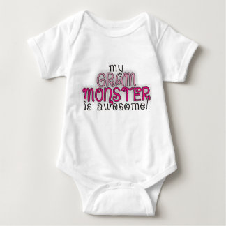 My Grandma Gram Monster is Awesome! Girl Onsie Baby Bodysuit