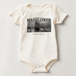 My Grandma is a Mayflower Descendant Baby Bodysuit