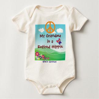 My Grandma is a Retired Hippie baby apparel Creeper