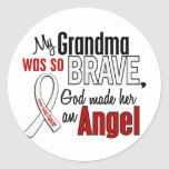 My Grandma Is An Angel Lung Cancer Round Stickers