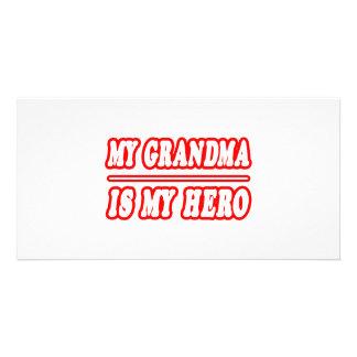 My Grandma Is My Hero Photo Card