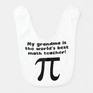 My Grandma Is The Word s Best Math Teacher Baby Bib
