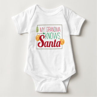 My Grandma knows Santa unisex baby bodysuit