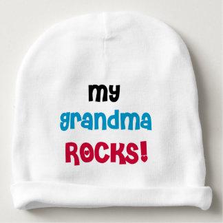 My Grandma Rocks Baby Beanie