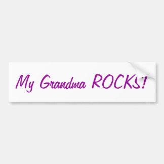My grandma ROCKS!bumper sticker Bumper Sticker