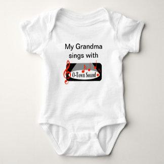 """""""My Grandma Sings with"""" Baby Bodysuit"""