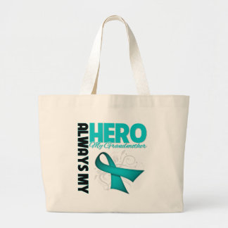 My Grandmother Always My Hero - Ovarian Cancer Tote Bags