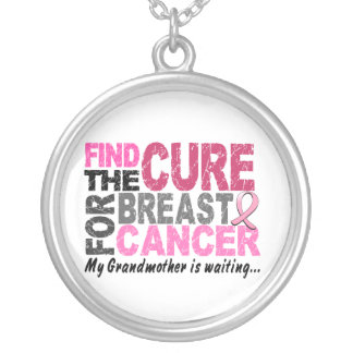 My Grandmother Is Waiting Breast Cancer Necklaces