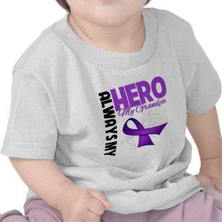 My Grandpa Always My Hero - Purple Ribbon Shirt