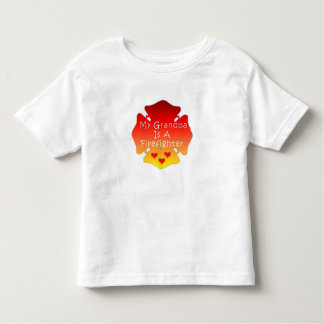 My Grandpa Is A Firefighter Toddler T-Shirt