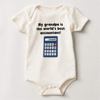 My Grandpa Is The Word's Best Accountant Baby Bodysuit