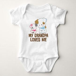 My Grandpa Loves Me Baby Girl grandchild tee