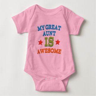 My Great Aunt is Awesome Baby Bodysuit