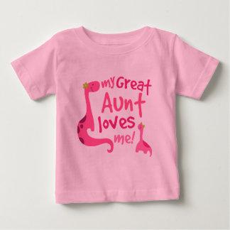 My Great Aunt Love Me Dinosaur Baby T-Shirt