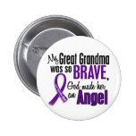 My Great Grandma Is An Angel Pancreatic Cancer 6 Cm Round Badge