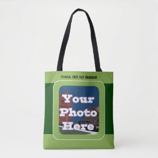 My Green Buckle Tote Bag