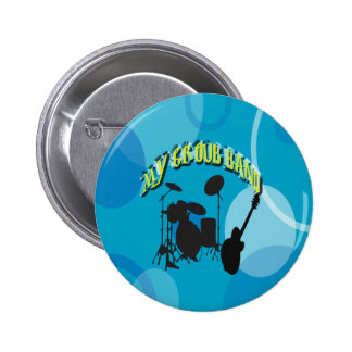 My Group Band Sweet Blue Pinback Buttons