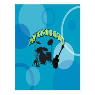 My Group Band Sweet Blue Postcard