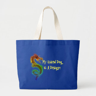 My Guard Dog is a Dragon Tote Bags