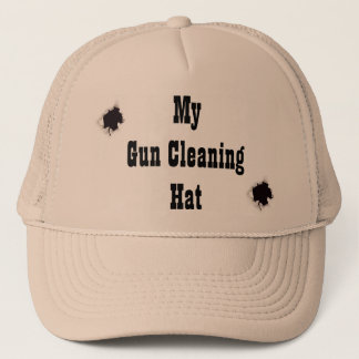 My gun cleaning hat! trucker hat