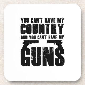 My Gun Funny 2 Amendment Cool Gift Coaster