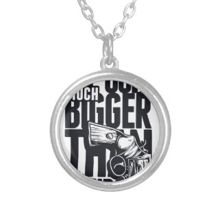 MY GUN IS MUCH BIGGER THAN YOURS SILVER PLATED NECKLACE