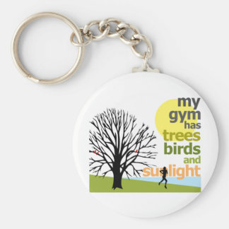 My Gym Has Trees Basic Round Button Key Ring