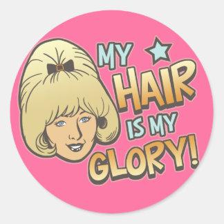 My Hair Is My Glory Funny Sticker