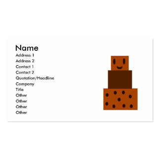 My Happy Chocolate Cake Business Cards