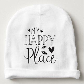 my happy place baby beanie