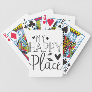 my happy place bicycle playing cards