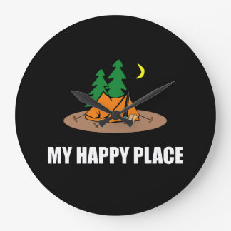 My Happy Place Camping Tent Clocks