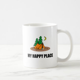 My Happy Place Camping Tent Coffee Mug