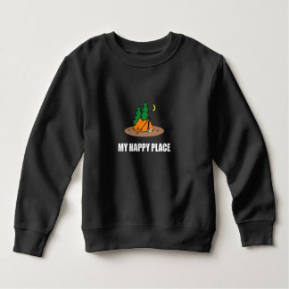 My Happy Place Camping Tent Sweatshirt