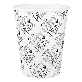 my happy place paper cup