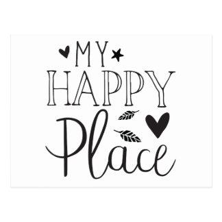 my happy place postcard