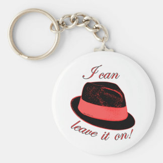 My Hat Basic Round Button Key Ring