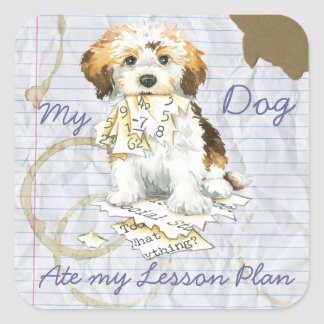 My Havanese Ate My Lesson Plan Square Stickers