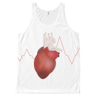 My heart All-Over print singlet